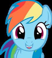 Rainbow Dash is happy by Skie-Vinyl