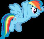 Rainbow Dash excited