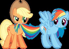 Applejack and Rainbow Dash by Skie-Vinyl