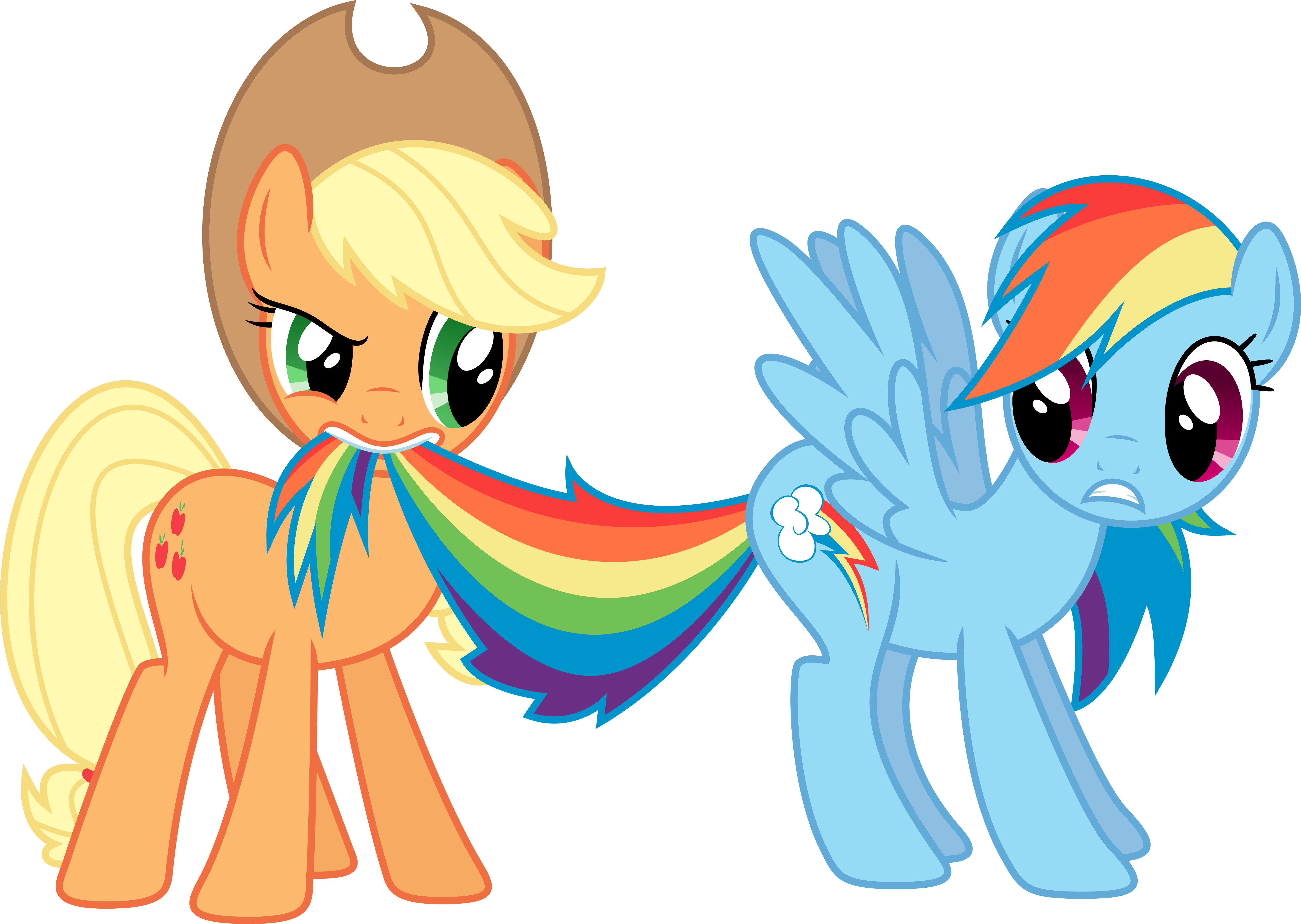 Rainbow Dash and Applejack by rolin11 on deviantART | My little ...