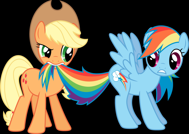 Rainbow Dash and Applejack by rolin11 on deviantART | My little ...