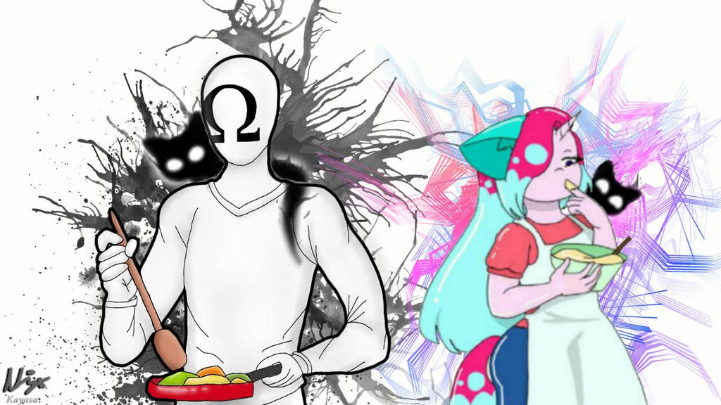 Cooking with a mystical creature ft.VetryDrawsOcs by KayasaYT