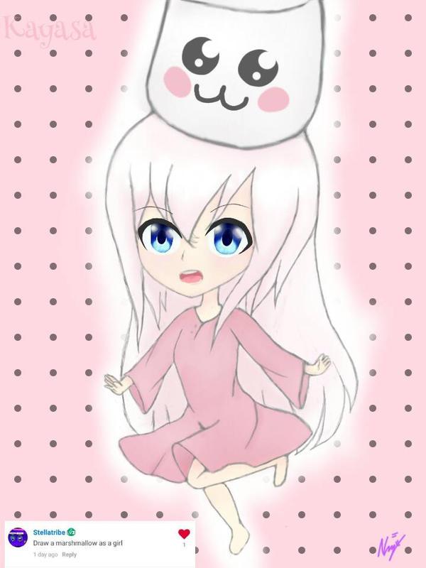 Cute marshmallow girl by KayasaYT