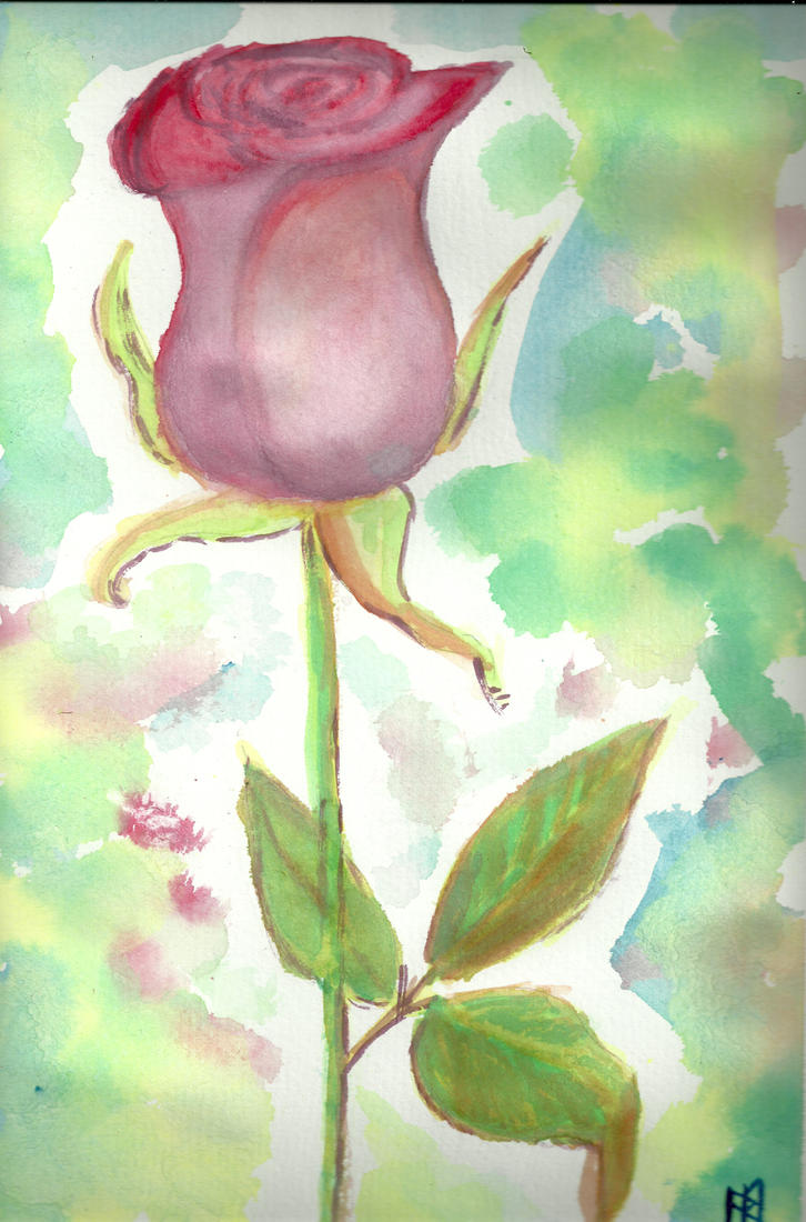 Watercolour Rose by ashkara2001