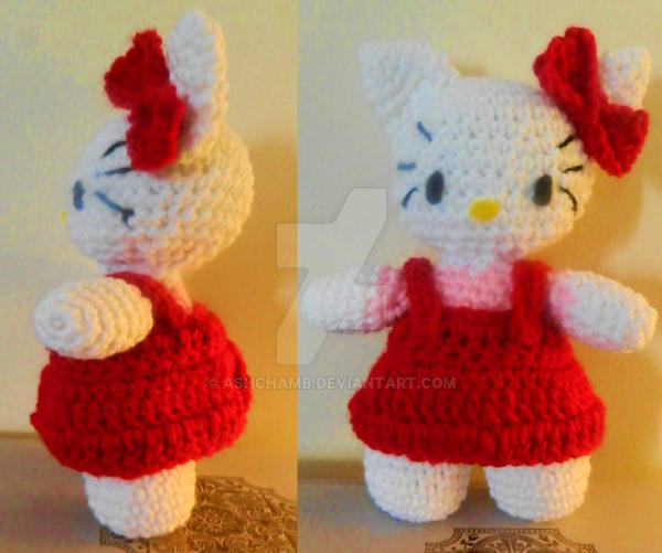 Free Pattern Crochet Hello Kitty : Hello kitty amigurumi with free pattern by AshChamb on ...