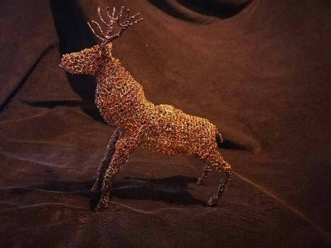 Wire crochet Stag