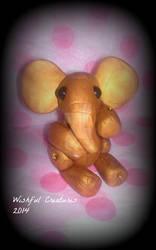 Golden Polymer Clay Elephant