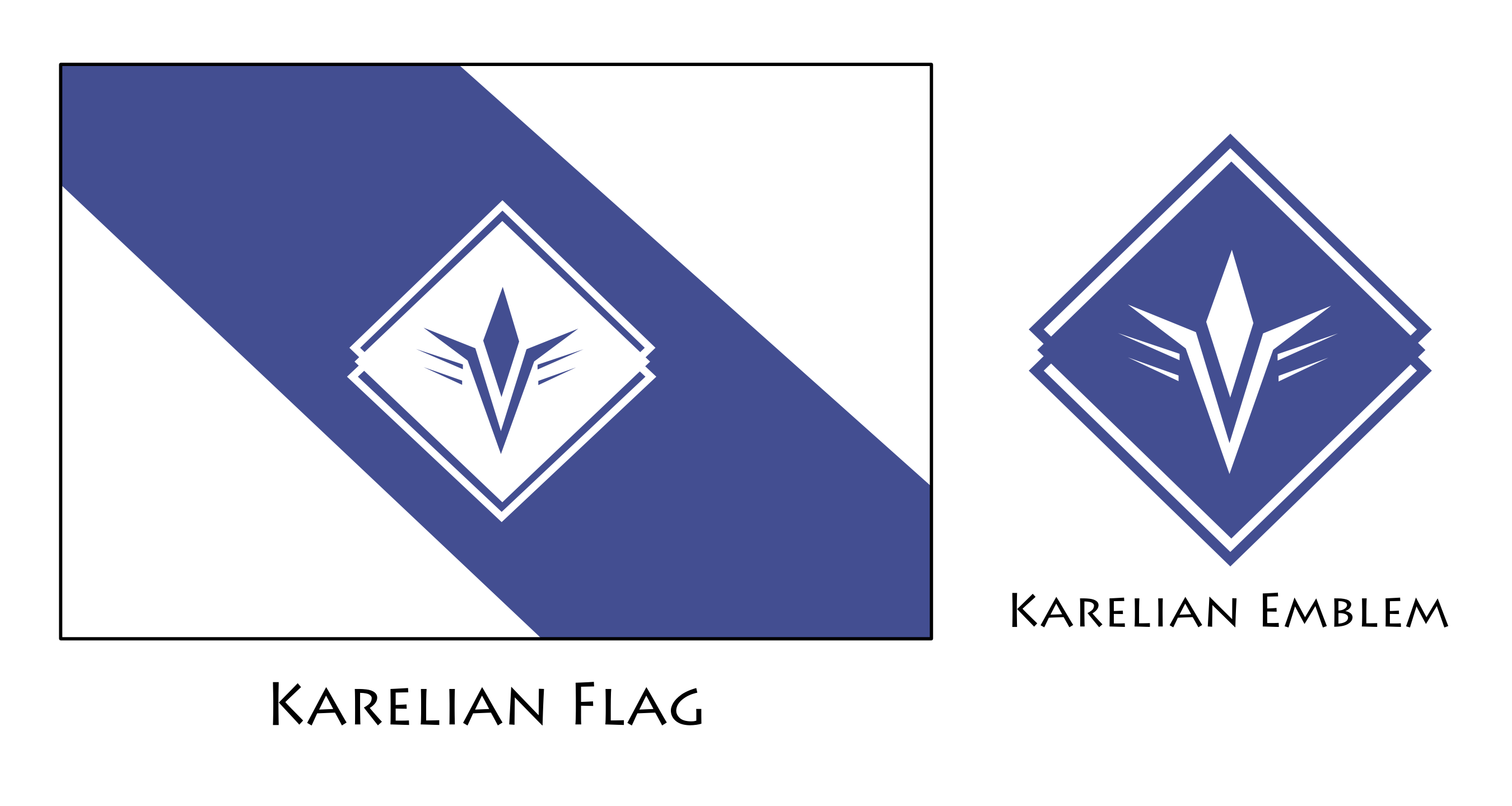 Karelian Empire Flag and Emblem by KingWillhamII