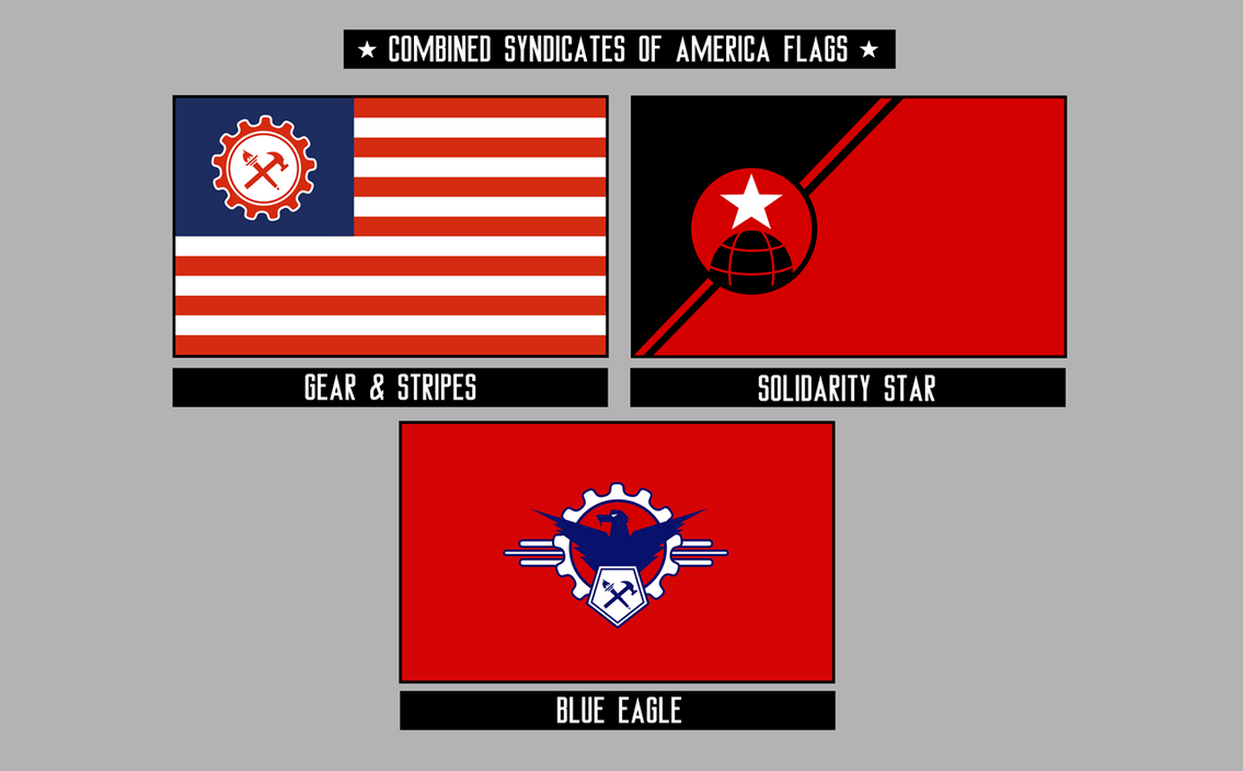 combined syndicates flags by kingwillhamii on deviantart