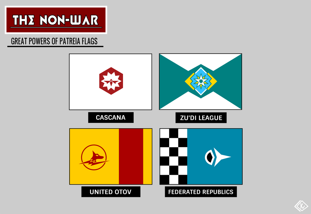 Great Powers of Patreia Flags (The Non-War) by KingWillhamII