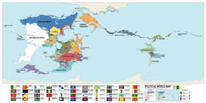 Unus Solum Political World Map (1827)