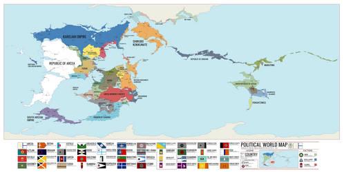 Unus Solum Political World Map (1827) by KingWillhamII
