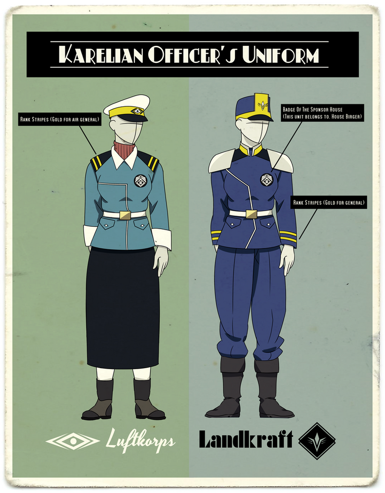 Karelian Officer's Uniform by KingWillhamII