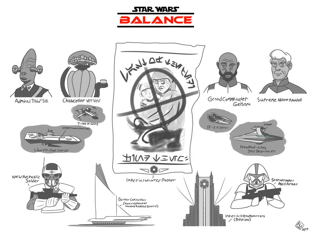Star Wars - Balance sketches by KingWillhamII