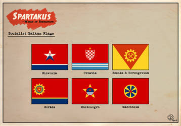 Socialist Balkan Flags (Spartakus) by KingWillhamII