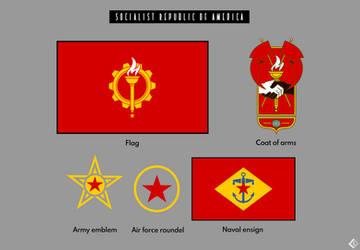Socialist Republic of America Flag and Icons