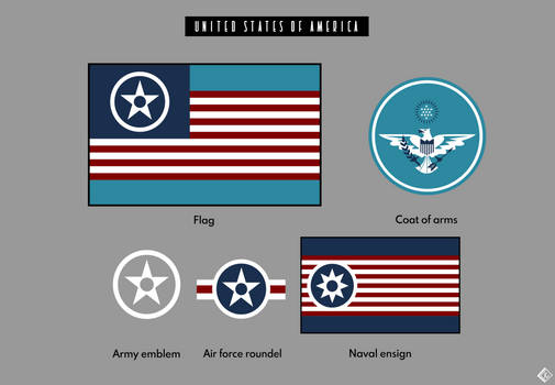 United States of America Flag and Icons