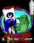 Raven and Beast Boy - Adventure Time by RavenEvert