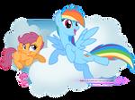 Scootaloo and RainbowDash