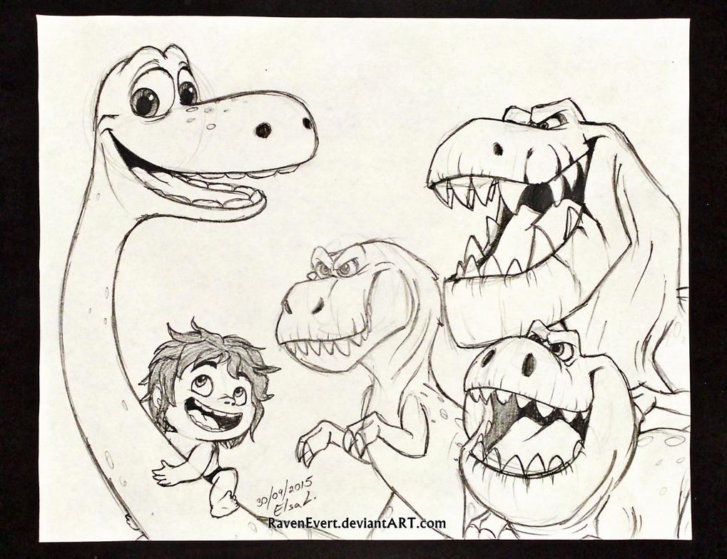 [the_good_dinosaur___sketch_by_ravenevert-d9bijd5]