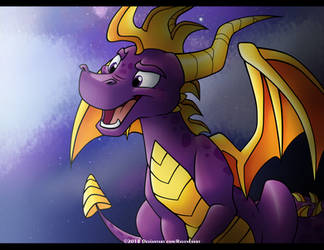 Spyro the Dragon by RavenEvert