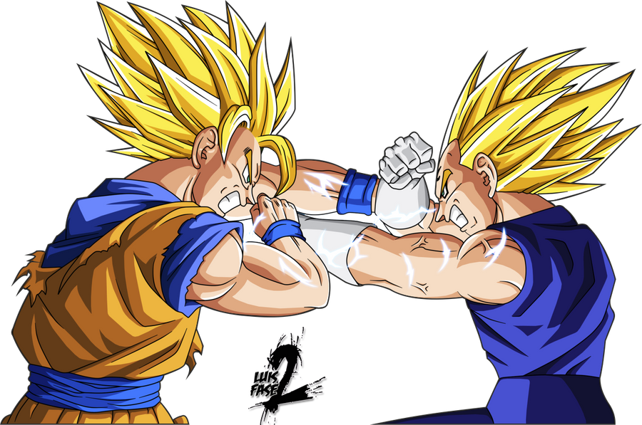 Goku Super Saiyan 4 Vs Vegeta Super Saiyan 3