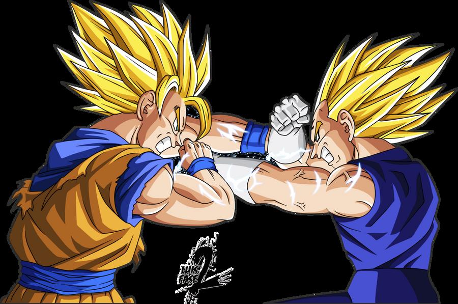 Goku Super Saiyan 4 Vs Vegeta Super Saiyan 3