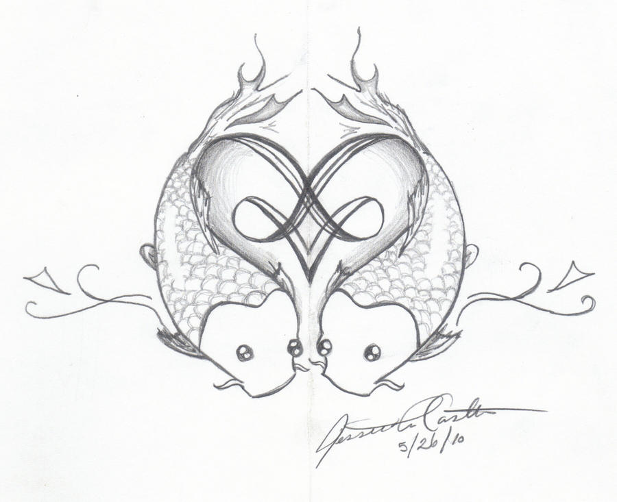 Fish Heart - shoulder tattoo