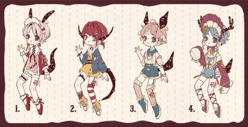 {CLOSED} Adoptable Set Price 06: Living Dolls by Reusoru