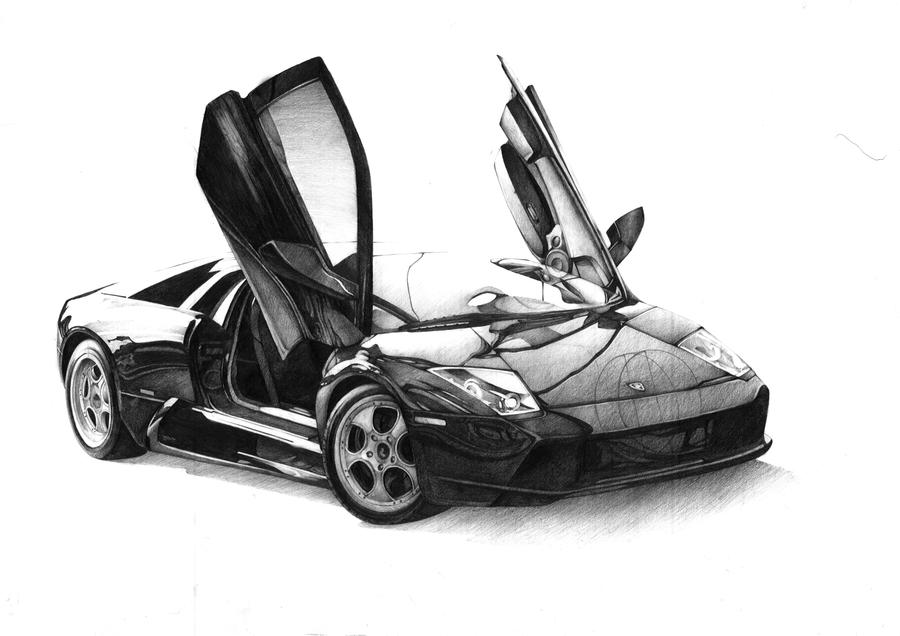 Lamborghini pencil by SoloMiaa on DeviantArt
