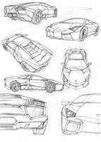 Lamborghini Reventon sketches by SoloMiaa