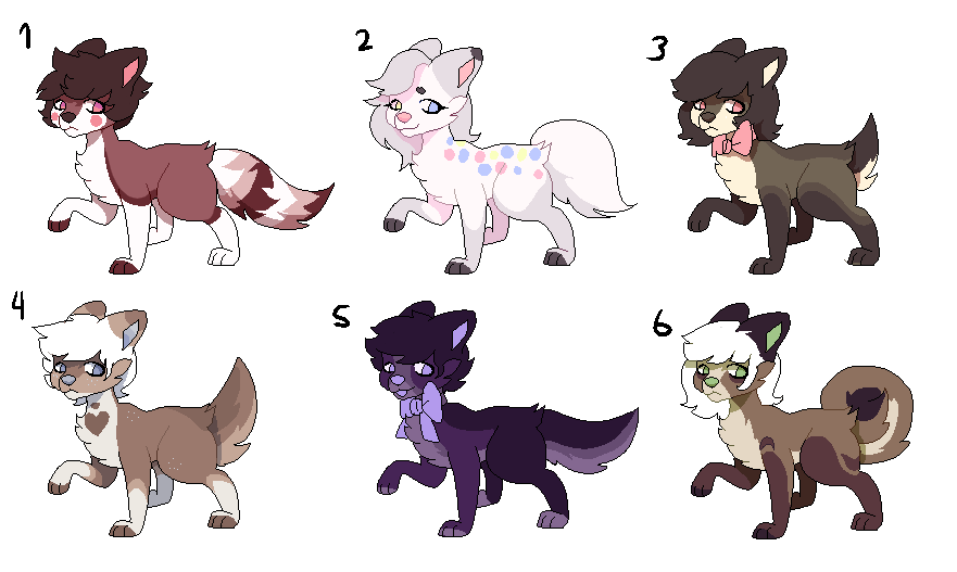 Open 46 100 Point Pixel Adopts By Starry Chevalier On