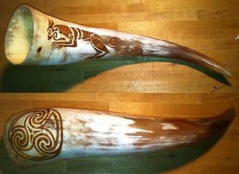 Celtic Horn by nitesdarkangel