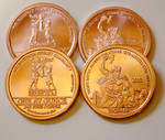 Copper Thor Trade Medallion by nitesdarkangel
