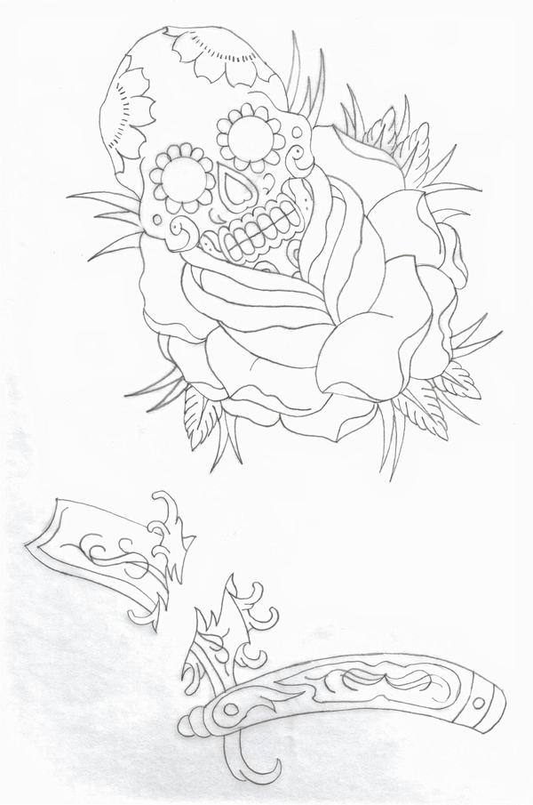 Old school tattoo line work 2 by nitesdarkangel on deviantart for Tattoo line work