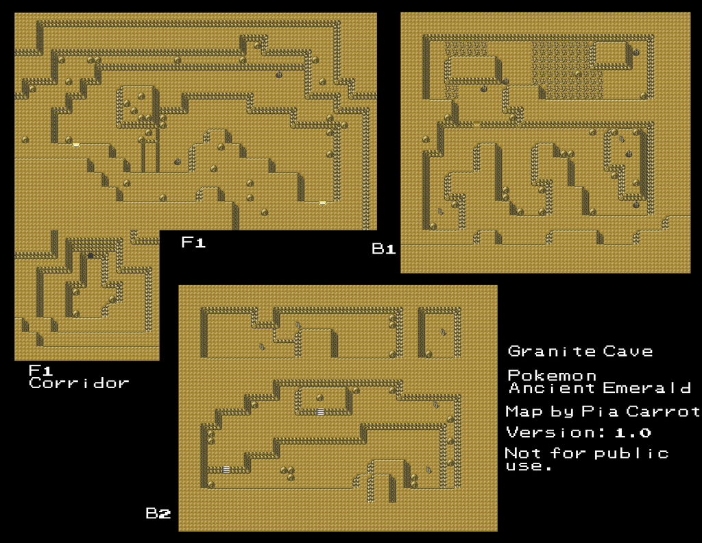 Pokemon Emerald Granite Cave Map Images Pokemon Images