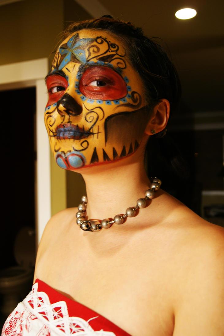 sugar skull makeup wallpaper - photo #30