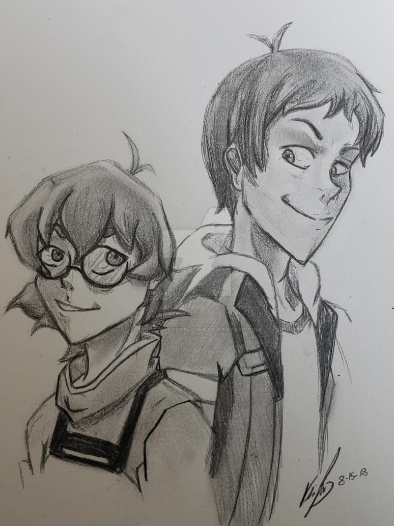 Pidge and Lance by DigimonSaversLover