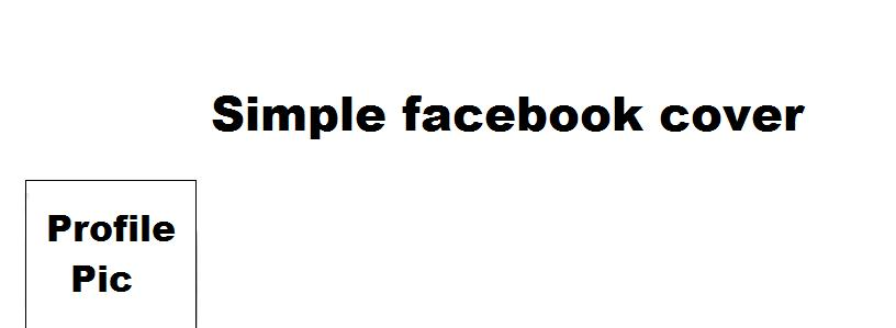 Simple Facebook Cover template by Dypritee