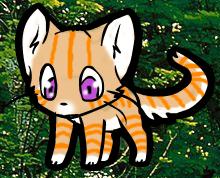 orange forest cat avatar by waterflamewerewolf
