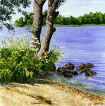 By the lake by Loulin