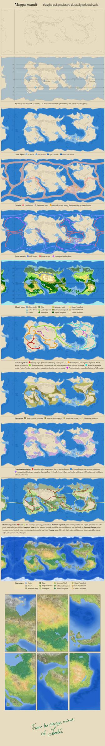 Mappa mundi by Loulin