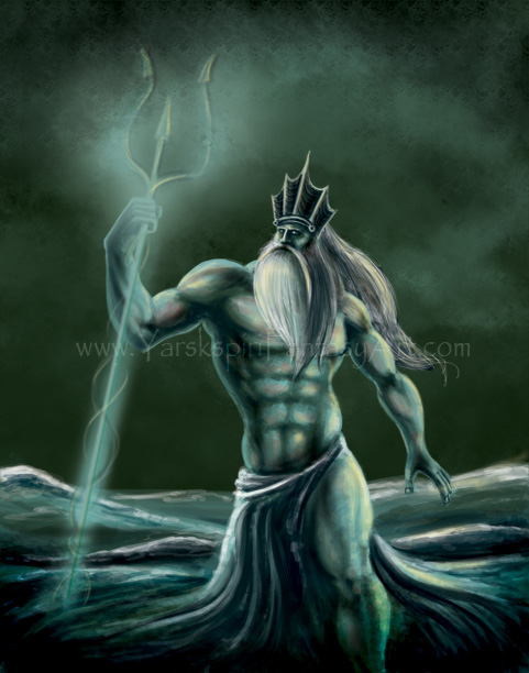 Poseidon Illustration Drawing by Yarkspiri on DeviantArt