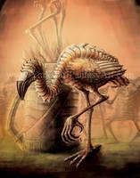 Flamingo - Alice in Wonderland Horror by Yarkspiri