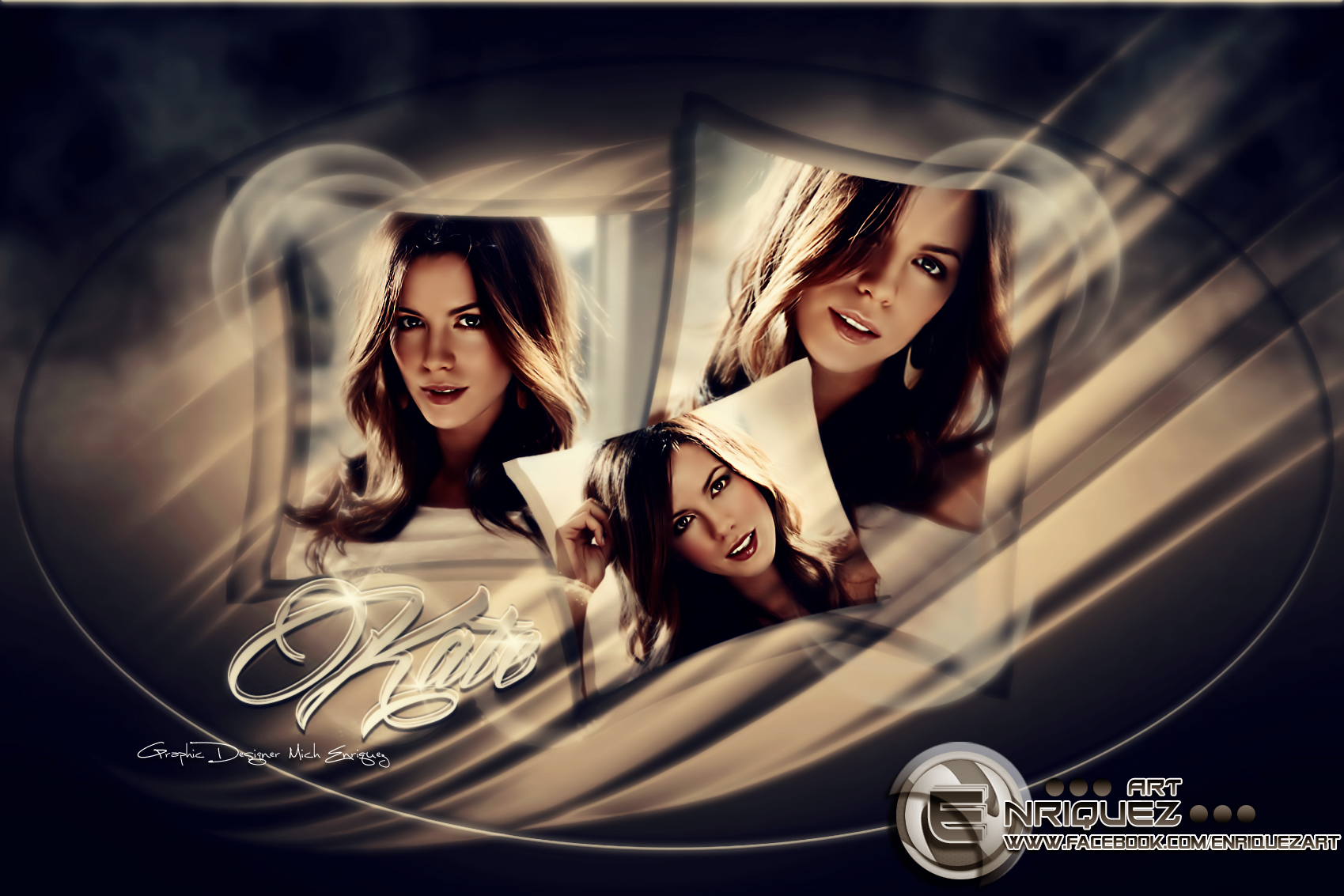 Kate Beckinsale | Wallpaper by EnriquezArt