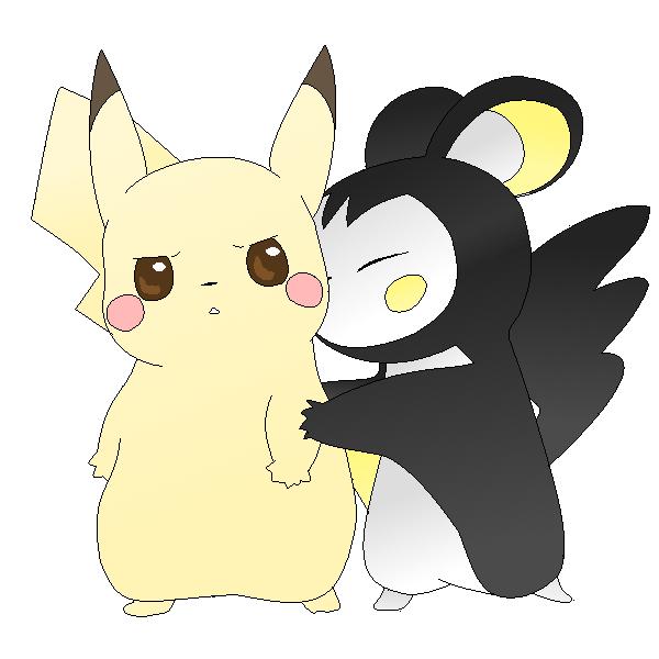 Pikachu and Emolga :Colored by kawaiipikachu12 on DeviantArt