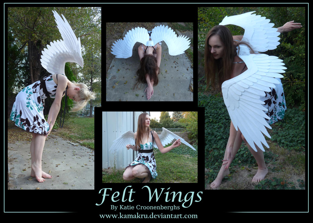 Felt Wings 5ft white - akkiko by Kamakru