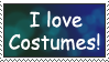 I love Costumes Stamp by Kamakru