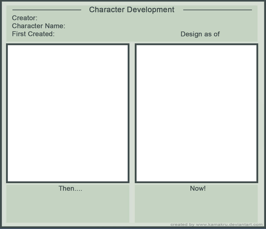 Character Development Meme by Kamakru on DeviantArt