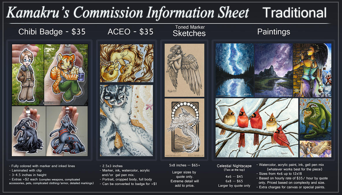 Commission Info and ToS - Traditional - CLOSED by Kamakru
